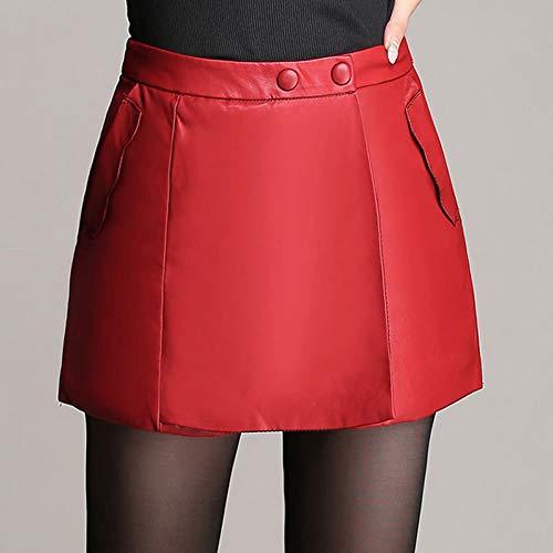 Grande Rouge Taille Jupe PU FS7911 Girl Club Cuir Short Mini E HYBvwq
