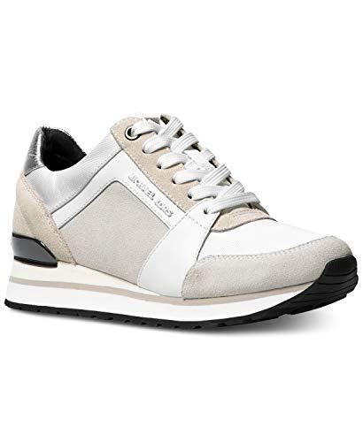 MICHAEL Michael Kors Women's Billie Trainer Fashion Sneakers (8.5 B (M) US, Optic White)