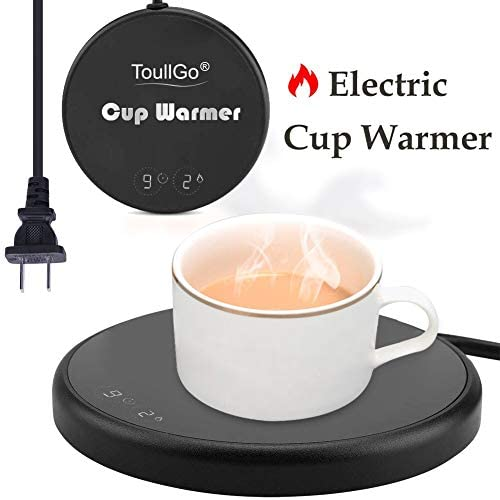 Coffee Warmer,Coffee Mug Warmer,Smart Coffee Warmer,Electric Beverage Warmer,With Two Temperature Settings,Best Gift Idea, Office Home Use Electric Cup Beverage Plate, Water,Milk Coffee Warmer-Black