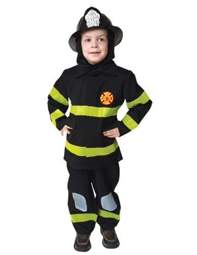 [Deluxe Fire Fighter Dress Up Children's Costume Set Size: Large] (Law Enforcement Child Costume)