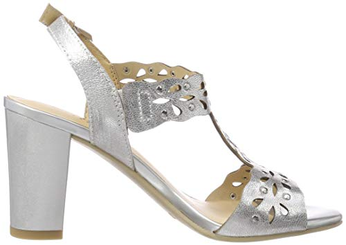 Metal Cheville Femme Andrea Argenté 920 silver Bride Caprice Sandales UfwUxz