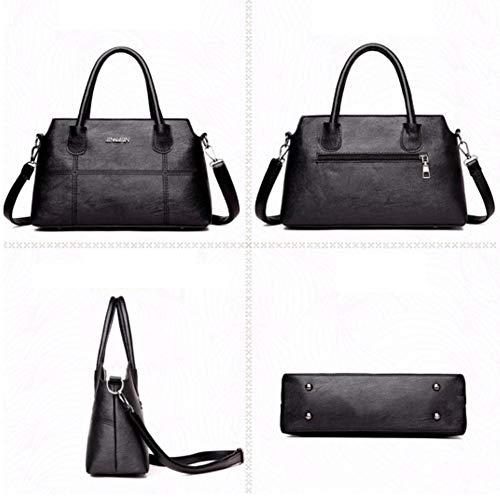 Red Bag Women Grey Shoulder Big Large Handbag Promotion Shopping Bangle009 Capacity Vintage Shell Zipper Tote 6wXB7
