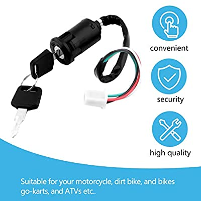 Coldcedar Universal Motorcycle Scooter 4 Pin Ignition Switch with Key Suitable for Honda: Home & Kitchen