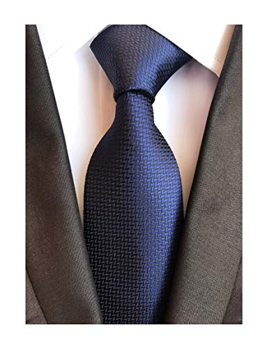 """Navy Blue Gingham Seft Ties Woven Narrow Party Cool Italy Necktie 3.15"""" for Men"""