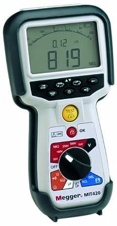 Megger Mit430 En Insulation Tester 200 Gigaohms Resistance 50v 100v 250v 500v 1000v Test Voltage Amazon Com Industrial Scientific