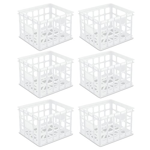 Sterilite 16928006 Storage Crate, White, (Filing Crates)
