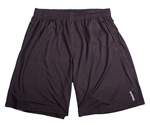 Reebok Drawstring Shorts (Reebok Mens Breathable Mesh Sport Athletic Shorts (Medium, Black))