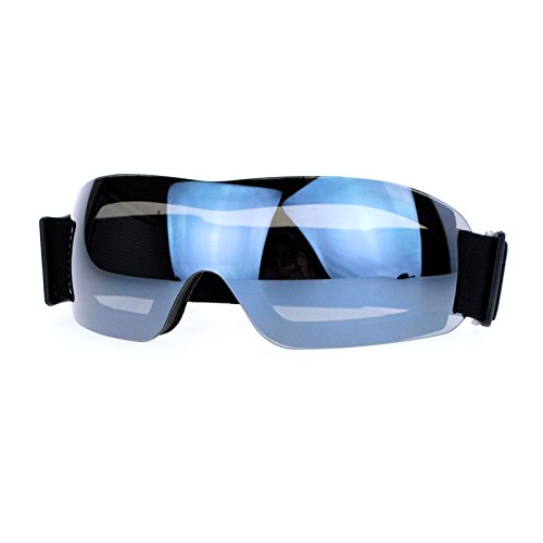 Ski Snowboard Sports Goggles Foam Padding Rimless Small Black Mirror - For Ski Women Goggles Sunglasses