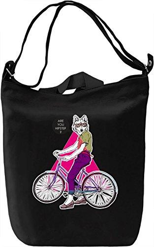 Hipster wolf Borsa Giornaliera Canvas Canvas Day Bag| 100% Premium Cotton Canvas| DTG Printing|
