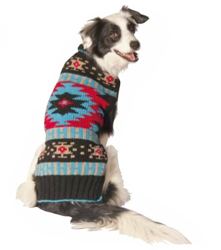 Cheap Chilly Dog BLACK SOUTHWEST Dog Sweater, Medium