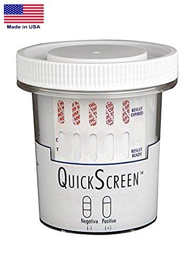 QuickScreen 5 Panel Drug Test Cup - 9218Z - BZD, COC, MET-10