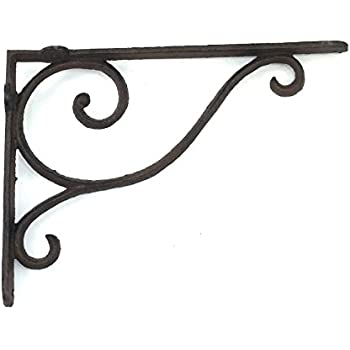 aunt chrisu0027 products wrought iron shelf bracket with simple thin victorian scroll design