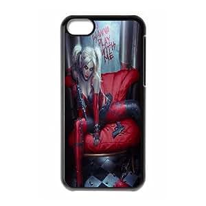 LSQDIY(R) joker and harley quinn iPhone 5C Case Cover, Customized iPhone 5C Cover Case joker and harley quinn