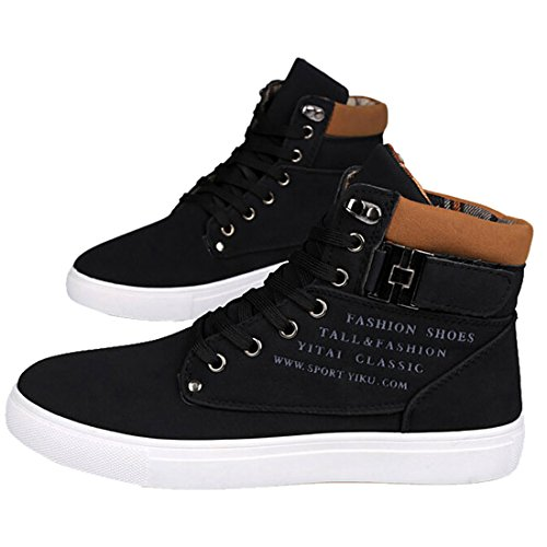 Sneakers Brun Hommes Top Jaunatre Lacets Boucle Haut Oasap SIwIY8