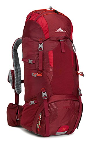 Cheap High Sierra Hawk 45 Frame Pack, Brick Red/Carmine/Red Line
