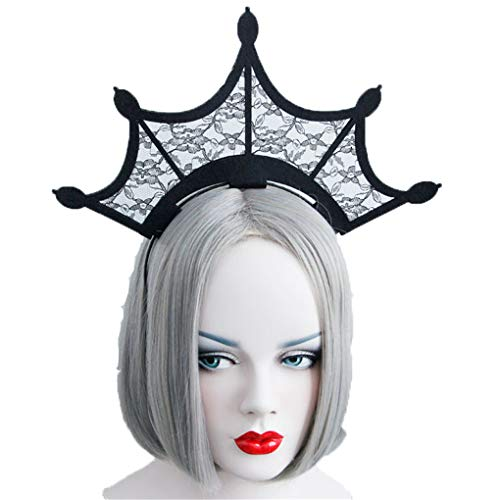 Countonme Women Halloween Spider Web Hair Hoop Headband Cosplay Headdress Masquerade Accessory