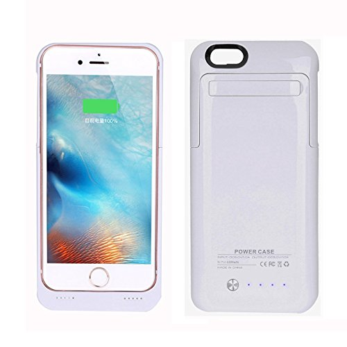 iPhone 6 Plus Battery Case Charger Fantastic LLC 4200mah External Charging Power Bank Case with Kickstand for iPhone 6 Plus/6S Plus (5.5inch) (Flux Spring Pack)