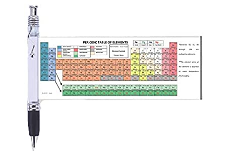 Chemistry Periodic Table of Elements Pen with Periodic Table Reference  Sheet, Formulas, and Equations | Perfect for Chemistry Study Tool,  Chemistry ...