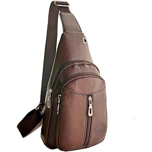 8f45fd7760 Sling Bag – Soft Durable Premium Faux Leather Crossbody Shoulder Bag  Backpack