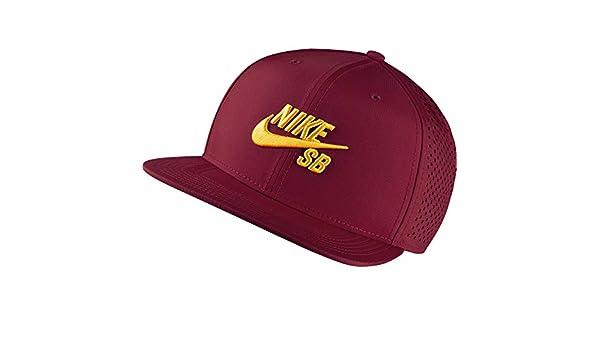 42c70e8ba9907 Nike SB Performance Trucker Dri-Fit Hat 629243 - Team Red University Gold  at Amazon Men s Clothing store