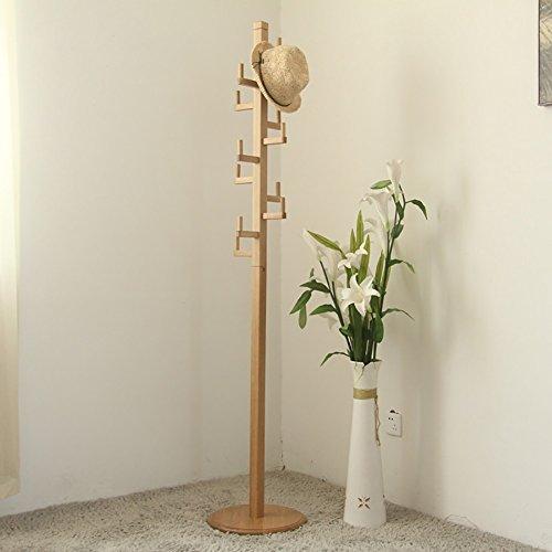 Lff Input Trægulv Tøj Stand-Hvid Oak Bøjle 36 × 36 × 185cm Moderne Minimalistisk Nordisk Soveværelser-stue-bøjle (farve: Naturlige Farve) Naturlige Farve rNcsWWZNx