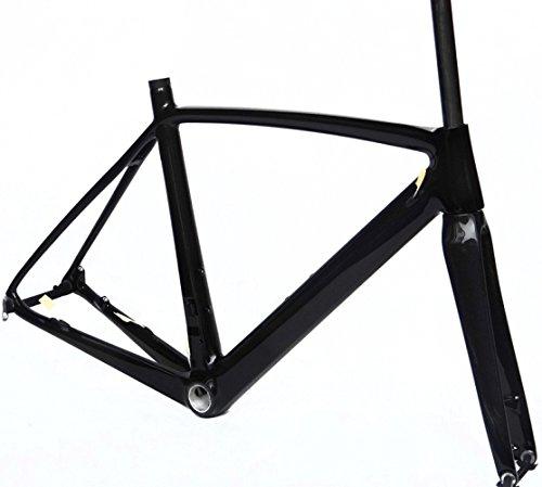 フルカーボン 光沢ディスクブレーキ ロードバイク サイクリング BSAフレームフォーク 50cm