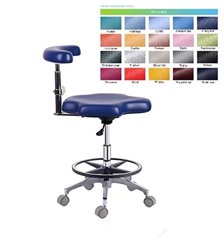 Aphrodite Dental Assistant Chair Hospital Nurse Stool Seat Height Adjustable PU Leather by Purple-Violet by Aphrodite