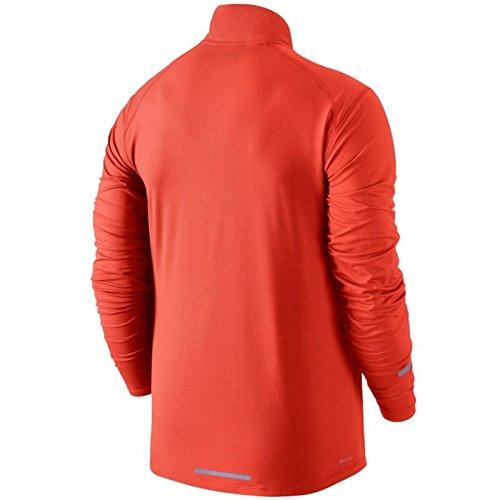 Nike Mens Running Dri-Fit Element Pullover, M, Orange