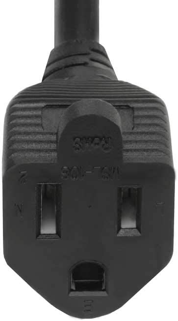 SF Cable 1ft 16 AWG NEMA 5-15P to NEMA 5-15R Outlet Saver Power Extension Cord