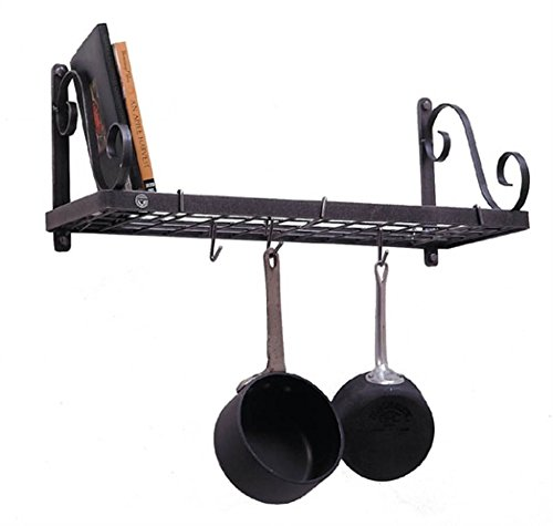 Decor Bookshelf Pot Rack by Enclume