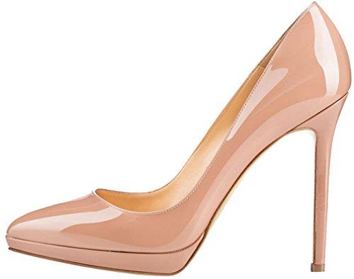 sur Femme Glisser Calaier Rose Chaussures Escarpins Aiguille Camessage 11CM dXwZBZ4q