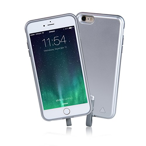 Imazing (MFI) iPhone 6 Plus / iPhone 6S Plus Extended Rechargeable Detachable Battery Bumper Case 4000mah (Silver)