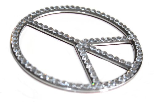 Bling CLEAR Crystal * PEACE Sign * Sparkle AUTO DECAL made w/ Swarovski Crystals Peace Bling