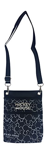 Womens Mickey Mouse (Disney Mickey Mouse Cross Body Shoulder Bag (Silver))