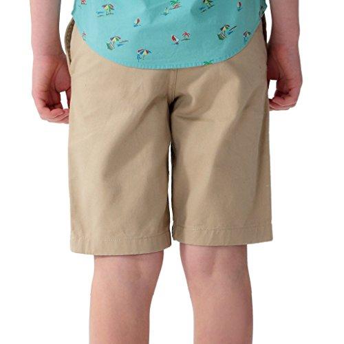 Leo&Lily Boys' Kids Elastic Waist Casual Fine Cotton Chino Shorts (Khaki, 16) by Leo&Lily (Image #1)