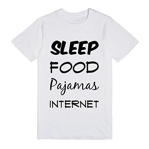 New-Mens-Love-Sleep-Food-Pajamas-Internet-Exclusive-Quality-T-shirt-for-Men