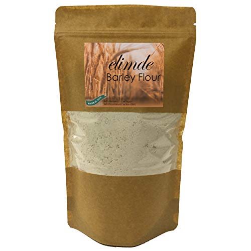 Elimde Barley Flour ( 1 lb. ) | Stone Ground | %100 Natural | %100 Non-GMO Whole Grain | For Bakery Hommade Bread Cookies | Low Gluten Vegan No Additives No Preservatives - Resealable Pack