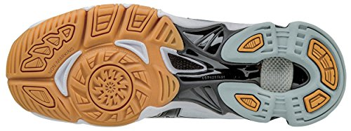 Mizuno Wave Bolt 6 Mens Volleyball Shoes, White/Black, 7 D US