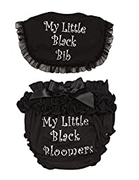 Ganz Baby My Little Black Bib and Bloomers Bundle