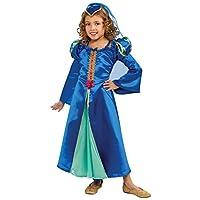 Traje de princesa renacentista, azul, grande
