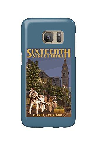 Denver, Colorado - 16th Street Mall (Galaxy S7 Cell Phone Case, Slim Barely - Denver Colorado Malls