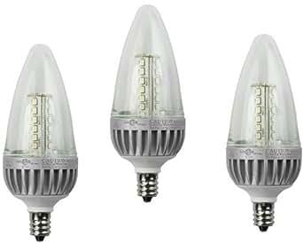 3 Pack Lights of America 2426led-lf3 2.5 Watt Power LED Globe Light Bulb, Warm White