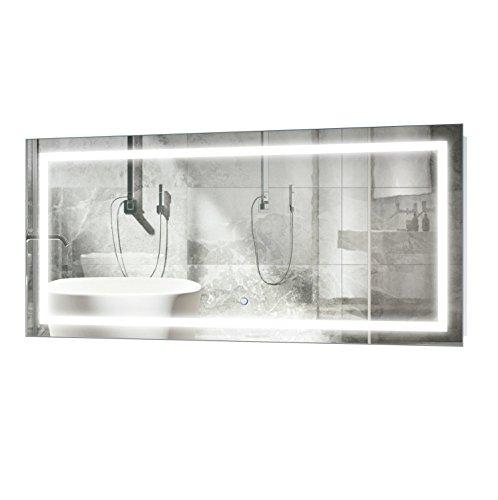 Krugg | Large 48 Inch X 24 Inch LED Bathroom Mirror | -