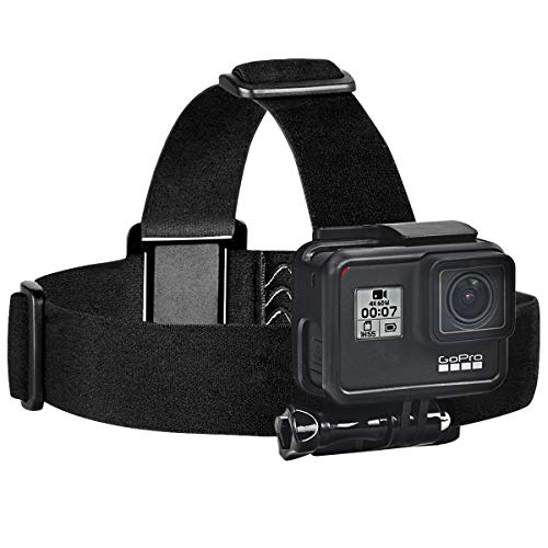 Sametop Head Strap Mount Compatible with GoPro Hero (2018), Fusion, Hero 7, 6, 5, 4, Session, 3+, 3, 2, 1 Cameras