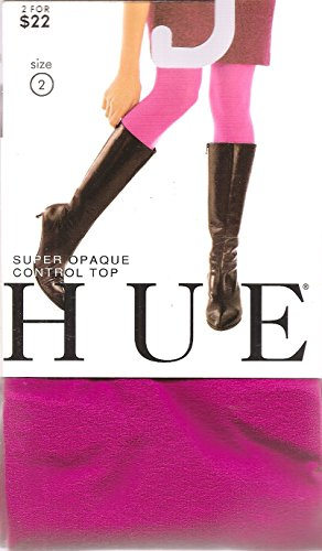 Hue Women's Tights Super Opaque Control Top 2 Dark ()