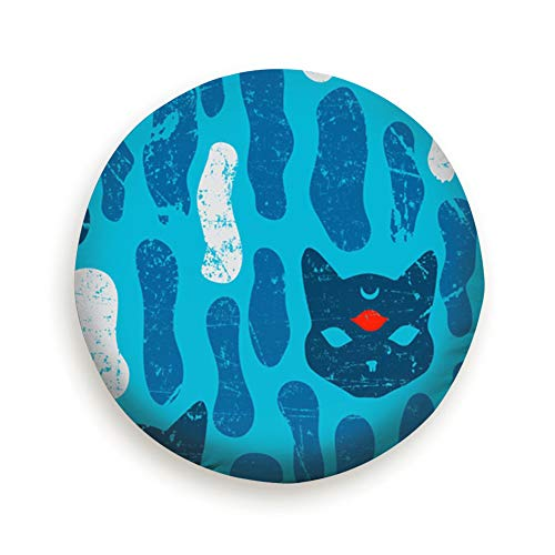 fudin Mystic cat Seamles Halloween Animals Wildlife Advertisement The Arts Spare Wheel Tire Cover Polyester Universal Wheel Covers for Trailer RV SUV Truck Camper Travel Trailer Accessories -