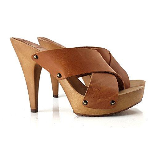 SABOT MY32120 shoes kiara Cuoio Cuir zn0PS