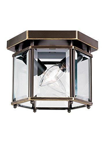 Bretton 2 Light (Sea Gull 7647EN-782 Bretton Flush Mount, 2-Light 7 Total Watts, Heirloom Bronze)