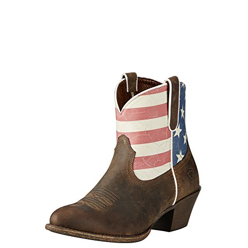 Ariat Women's Old Glory Gracie Western Cowboy Boot, Distressed Brown, 11 B US