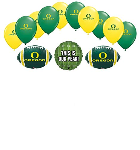 Mayflower Products University of Oregon Ducks Football Tailgating Party Supplies Balloon Bouquet Decorations -
